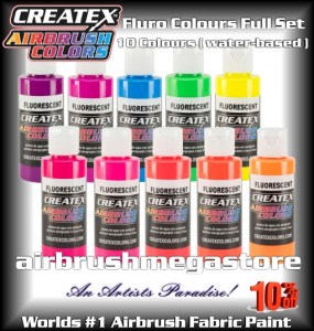 Createx Colors Fluro Full Colour Set