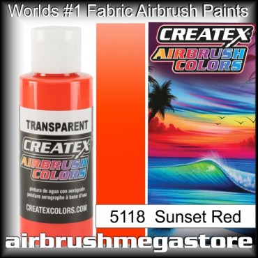 Createx Colors Transparent 5118 Sunset Red,Airbrush