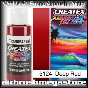 Createx Colors Transparent 5124 Deep Red,Airbrush