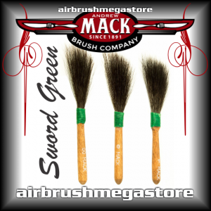 Mack Sword Series 20 Green Pinstripe Brush