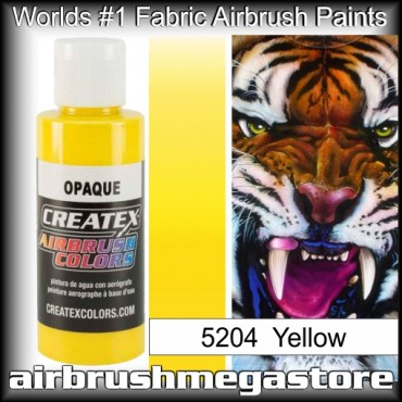createx colors 5204-opaque-yellow airbrush paint