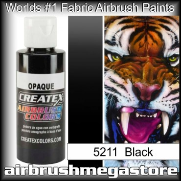 createx colors 5211-opaque-black airbrush paint