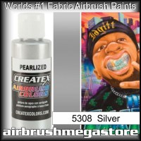createx colors 5308-pearl-silver airbrush paint